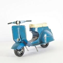 Moto Antigua azul