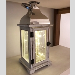 EV522 Farol Blanco y Plata con luces led